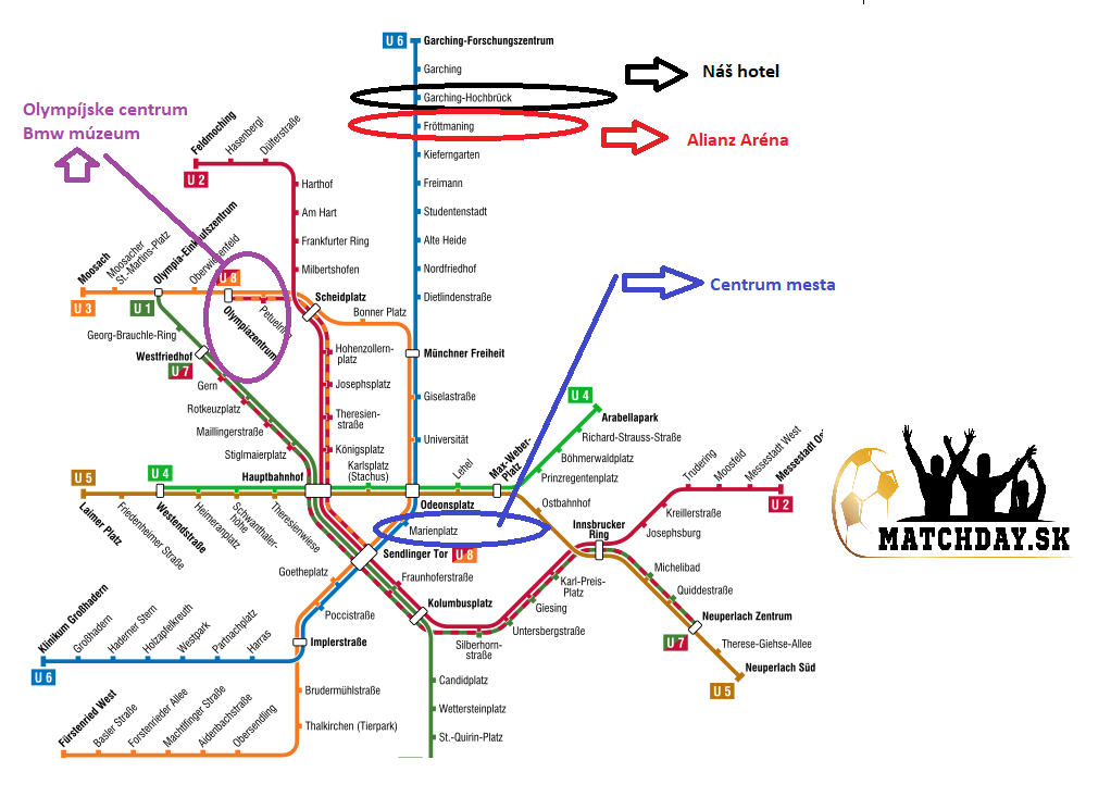 Mníchov mapa metra